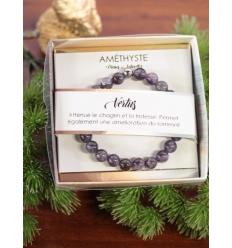Bracelet vertus - Pierres naturelles - Améthyste