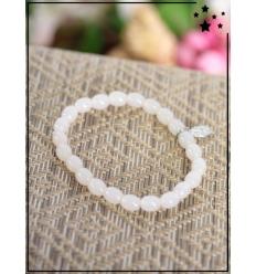 Bracelet - Perles ovales - Médaillon - Nacré