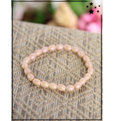 Bracelet - Perles ovales - Nude