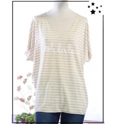 TU max 44 - Tee-shirt viscose - Oohlala - Moutarde