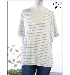 TU max 44 - Tee-shirt viscose - Oohlala - Gris