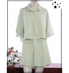 TU max 44 - 100% coton - Short - Vert pastel